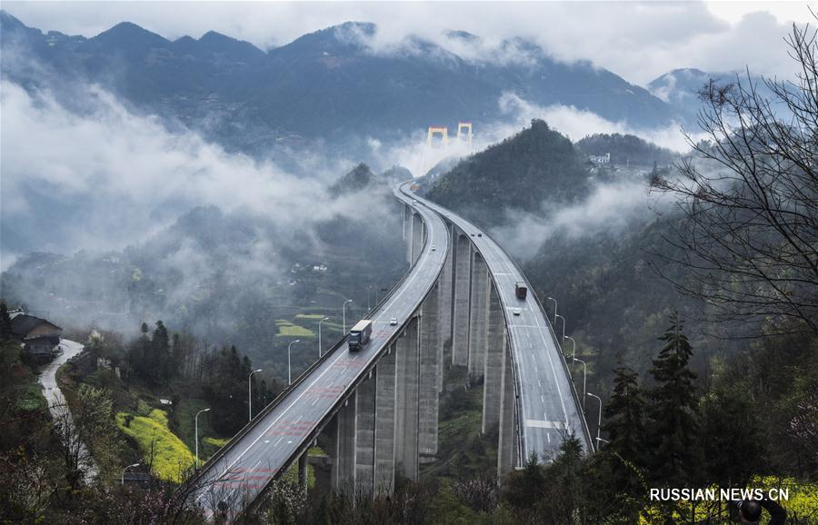 Мост над облаками в провинции Хубэй