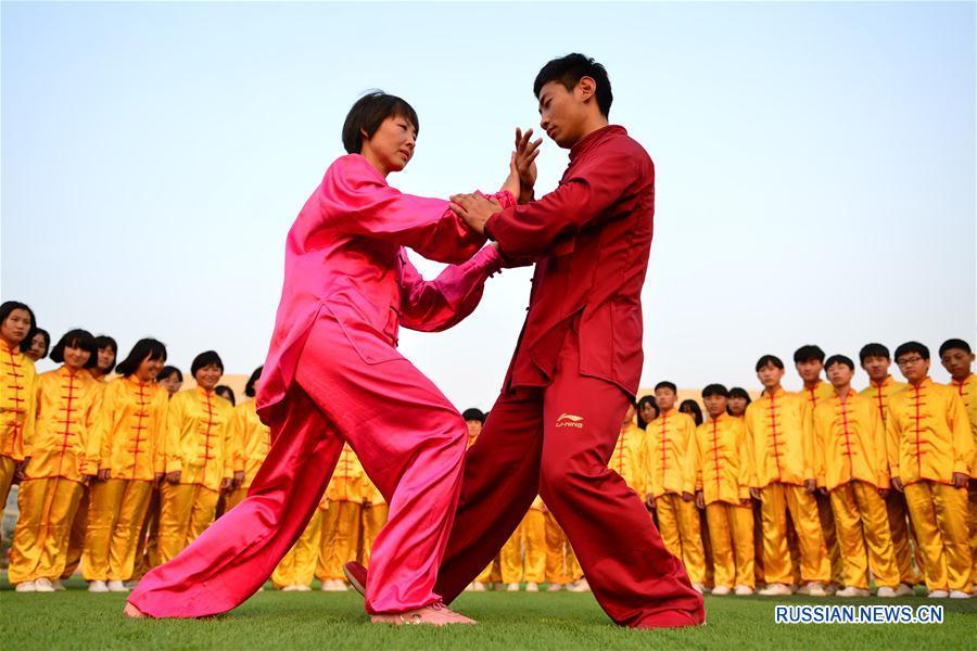 Более тысячи школьников уезда Гуанцзун осваивают тайцзицюань