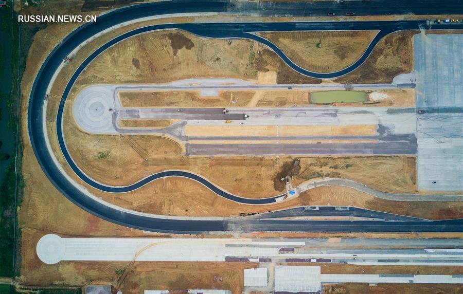 В Нанкине завершается строительство первого скоростного испытательного автотрека китайского производства
