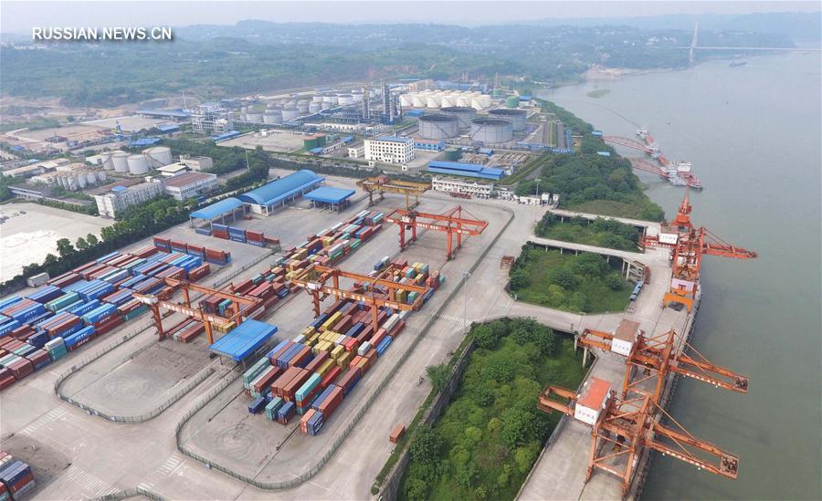 Сычуаньская зона свободной торговли с высоты птичьего полета