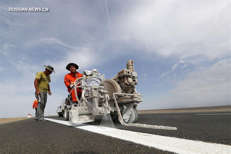 Участок Хами -- Миншуй строящегося скоростного шоссе Пекин -- Синьцзян скоро откроется для движения автотранспорта