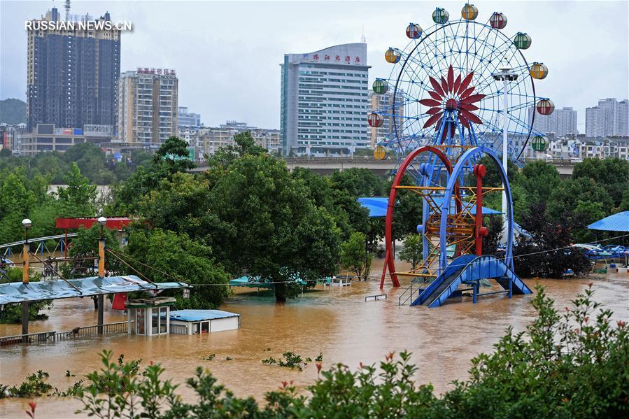 На северную часть провинции Цзянси обрушились ливни