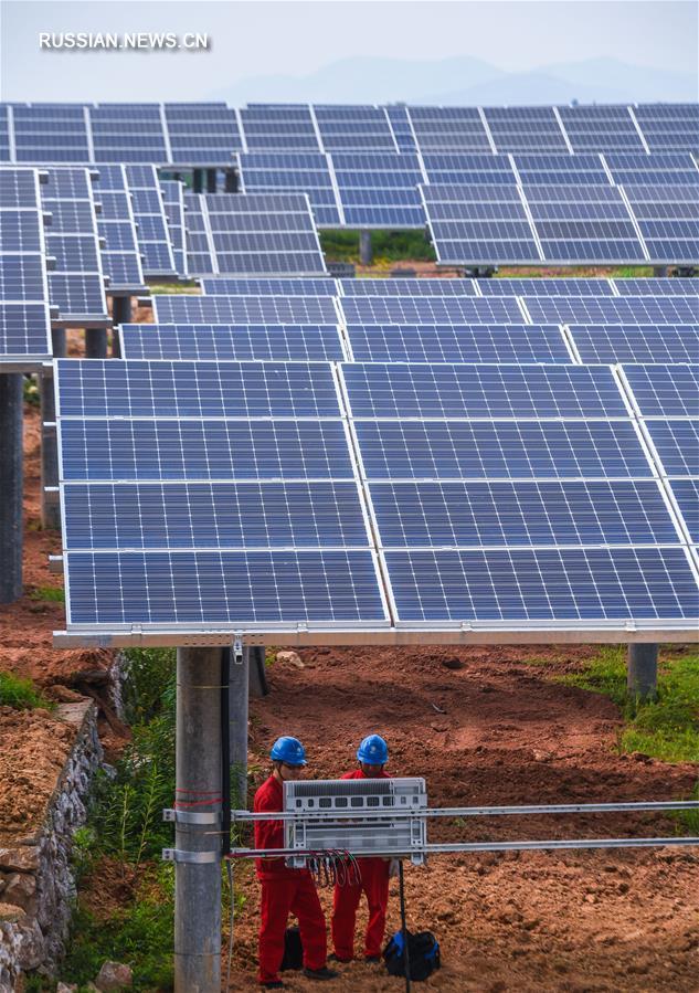 На севере провинции Чжэцзян пущена в эксплуатацию новая солнечная электростанция