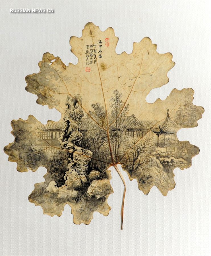 Знаменитые парки Китая теперь запечатлены на листьях