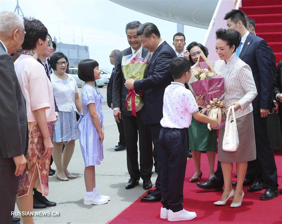 Си Цзиньпин прибыл в Сянган для участия в торжествах по случаю 20-й годовщины возвращения  Сянгана под юрисдикцию Китая