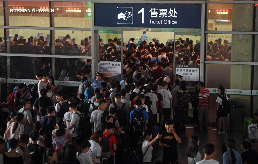 Наводнение в Центральном Китае повлияло на работу скоростной железной дороги Пекин -- Гуанчжоу