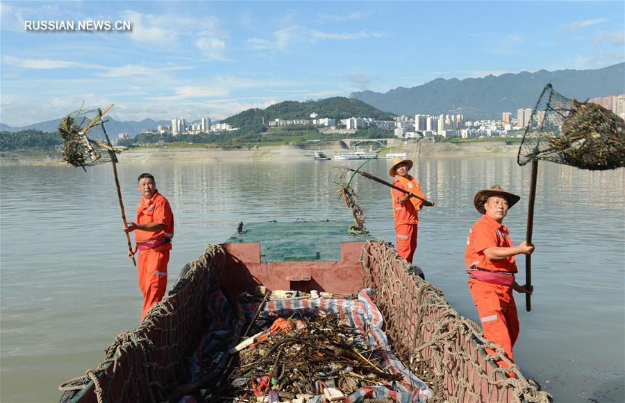 В районе водохранилища Санься начаты мусороуборочные работы