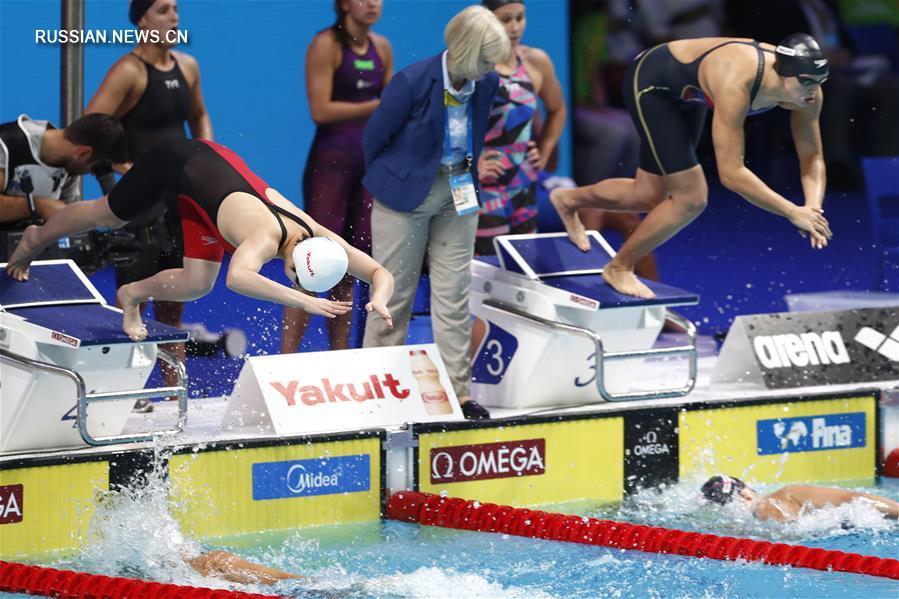 Китаянки завоевали серебро в эстафете вольным стилем 4х200 метров на ЧМ по водным  видам спорта