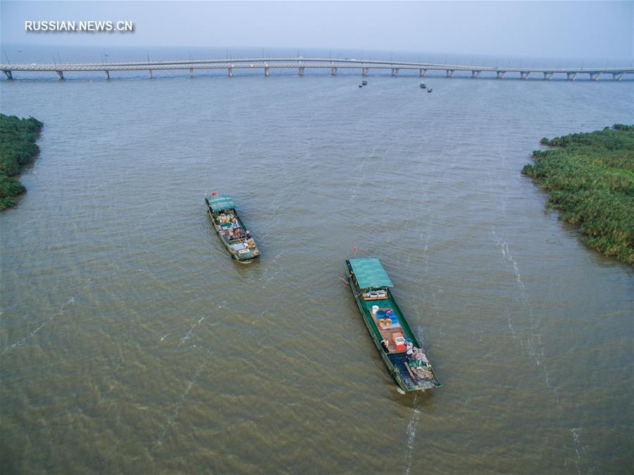 Рыболовный сезон на озере Тайху