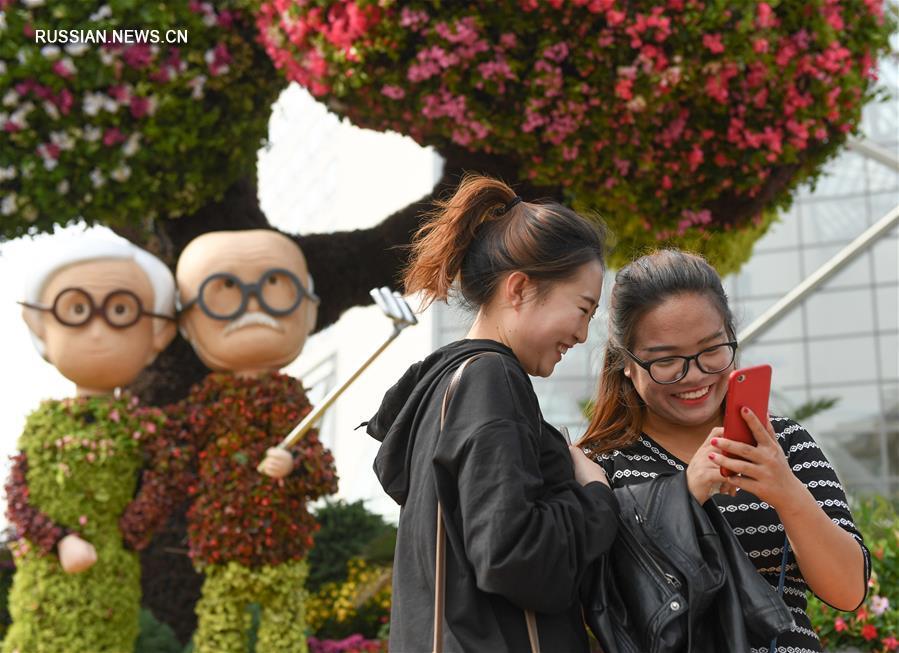 Праздничное убранство пекинских улиц
