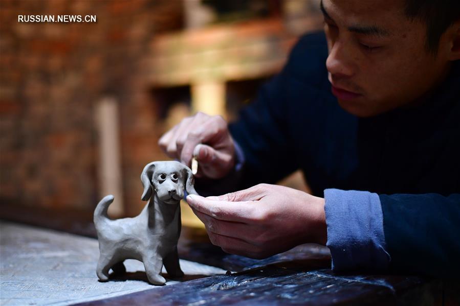 Глиняные свистульки нигугу из уезда Сюньсянь