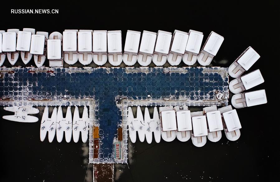 Снегопады в Китае продолжаются