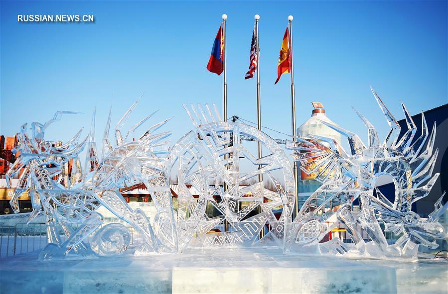 В Харбине завершился 7-й Международный конкурс блочных ледовых скульптур