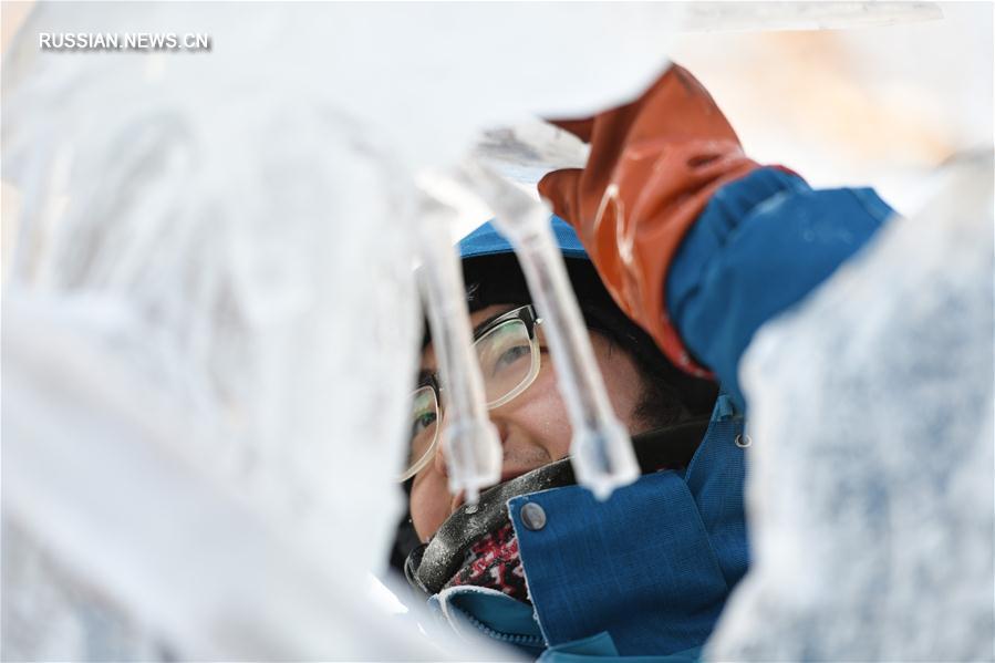 Ледяные шедевры на 37-м Всекитайском конкурсе профессиональных ледовых скульпторов
