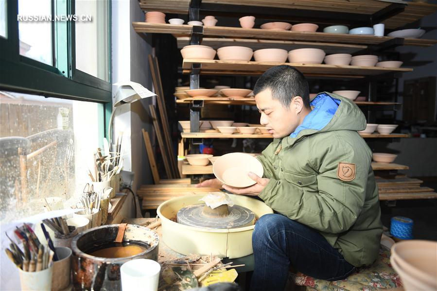 """""""Деревня искусств"""" Вайтунъу в провинции Чжэцзян"""