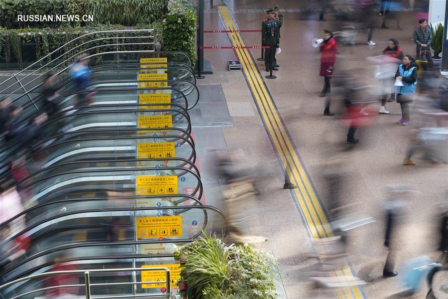 За первые 12 дней особого режима работы транспорта в связи с Праздником Весны железнодорожный  пассажирооборот в Китае превысил 100 млн человек