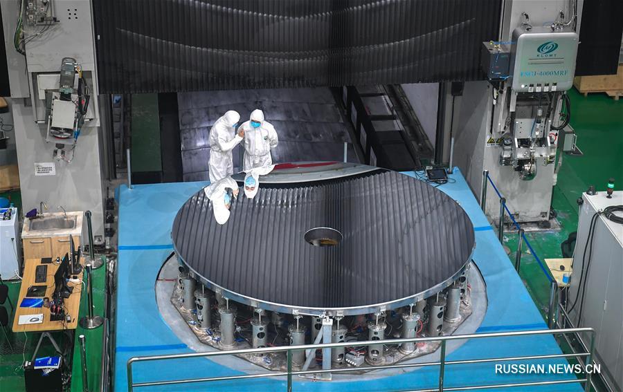 Асферический карборундный оптический рефлектор диаметром 4 м прошел приемку в Китае