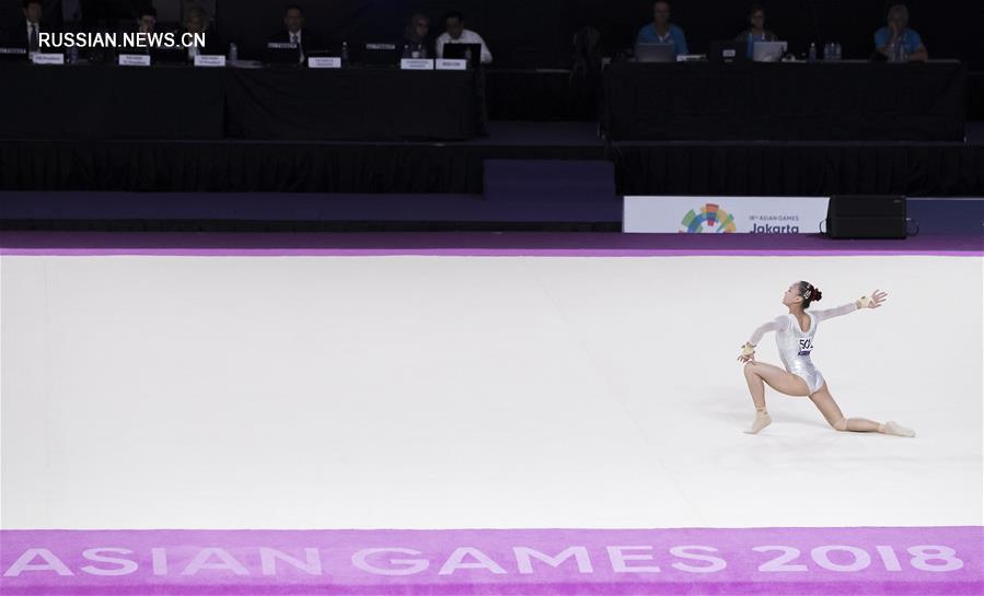 18-е Азиатские игры -- Гимнастика: китайские спортсмены выиграли 8 золотых медалей!