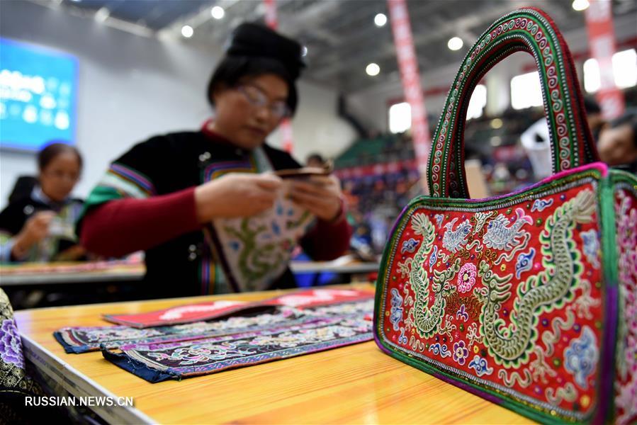 Конкурс рукоделия в уезде Жунцзян провинции Гуйчжоу