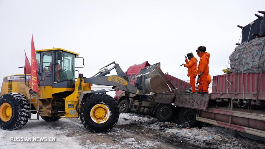 Ведутся работы по ликвидации последствий снежной стихии в Юйшу