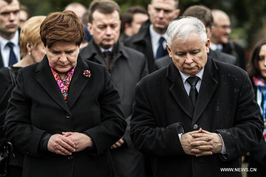 (国际)(4)波兰政府纪念斯摩棱斯克空难6周年
