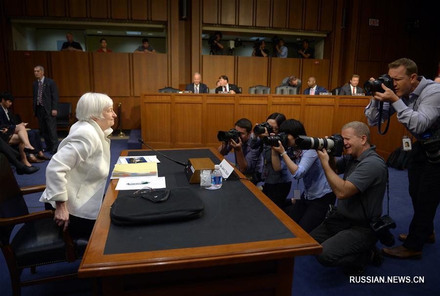 Глава ФРС США заявила о целесообразности осторожного подхода к повышению учетных  ставок