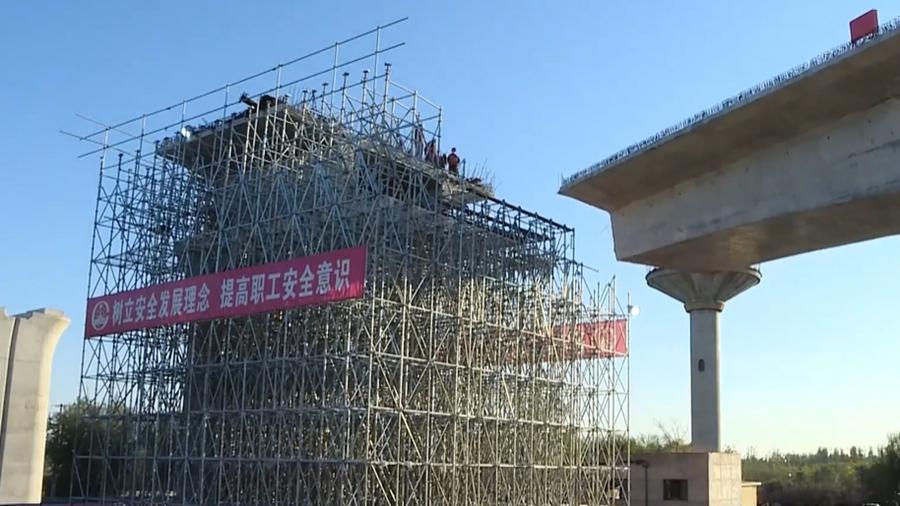 Успешно завершен поворот неразрезной балки в рамках строительства железной дороги Тяньцзинь-Дасин