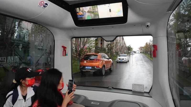 Тестовые поездки на беспилотном автобусе