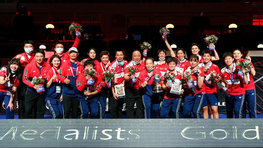 Китайская женская сборная по бадминтону выиграла Кубок Убер
