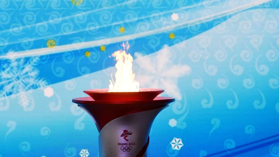 Олимпийский огонь прибыл в Пекин