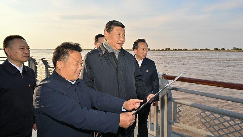 Си Цзиньпин проинспектировал устье реки Хуанхэ