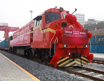 Между Китаем и Казахстаном открылось грузовое железнодорожное сообщение Ляньюньган- Алматы