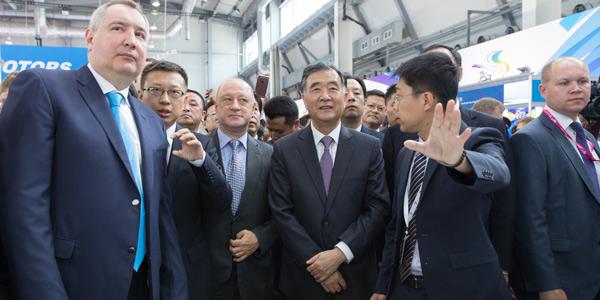 Ван Ян и вице-премьер РФ Д.Рогозин совместно посетили мероприятия 3-го Китайско-российского ЭКСПО