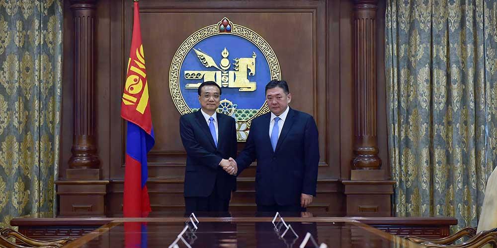 Ли Кэцян встретился с председателем Великого государственного хурала Монголии