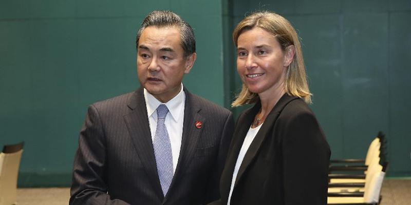Ван И встретился с главой дипломатии ЕС Ф. Могерини