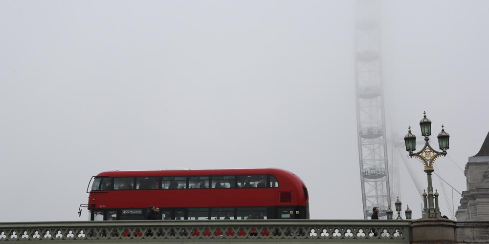 Лондон окутал туман