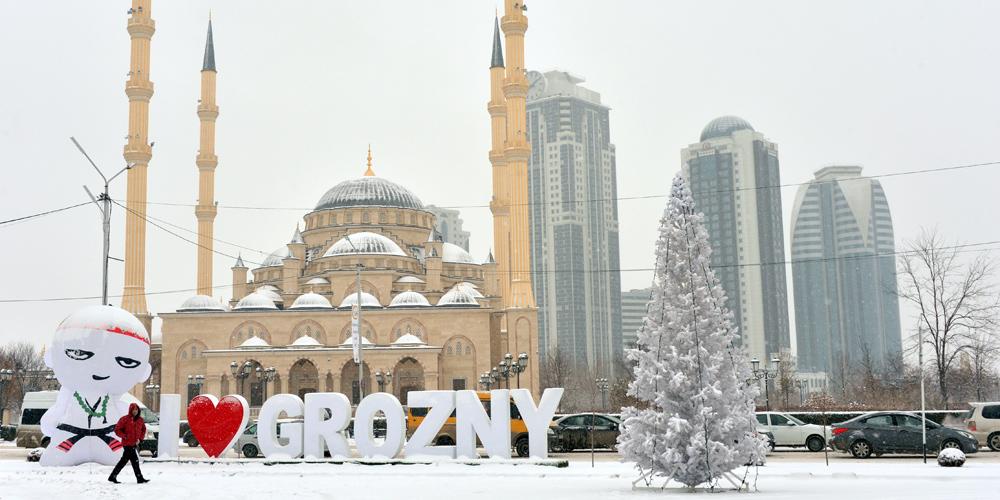 Снег в Грозном