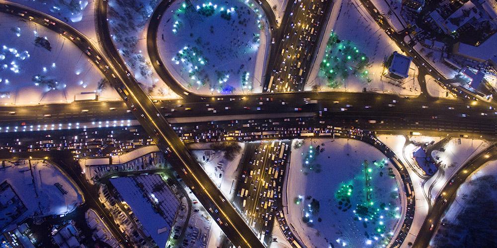 Ночные пейзажи в Москве