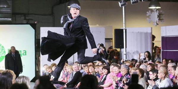Мода для старшего поколения на показе в Петербурге