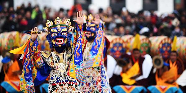 В монастыре Лабранг состоялся ритуал цам