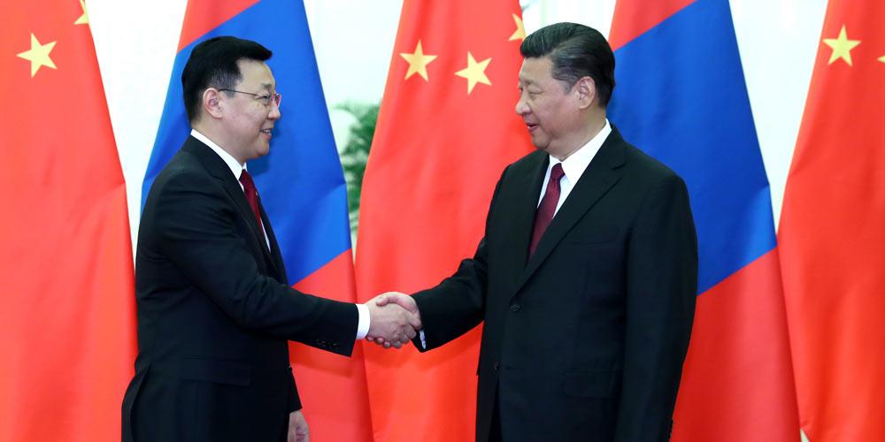 /Пояс и путь/ Си Цзиньпин встретился с премьер-министром Монголии