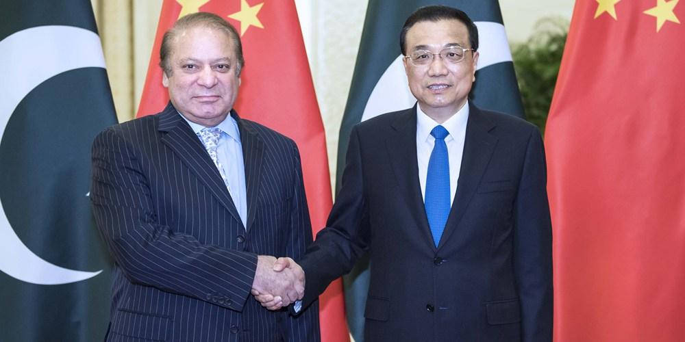 Ли Кэцян встретился с премьер-министром Пакистана Н. Шарифом