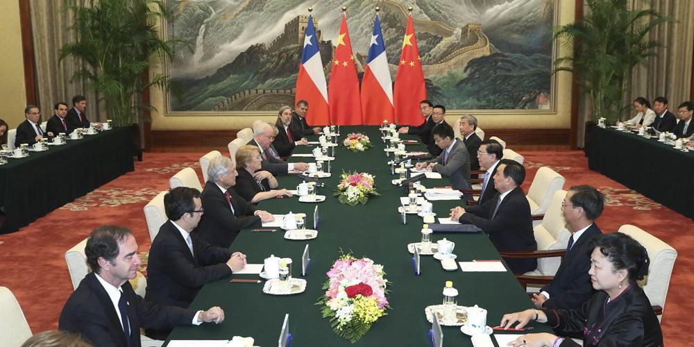 Высший законодательный орган Китая готов к усилению связей с парламентом Чили