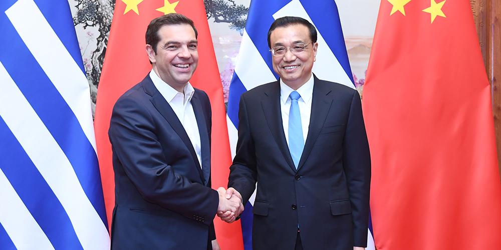/Пояс и путь/ Ли Кэцян встретился с премьер-министром Греции А.Ципрасом