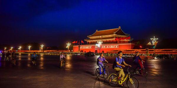 Красочная иллюминация в Пекине