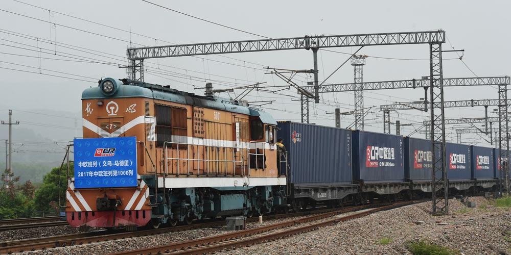 /Пояс и путь/ С начала 2017 года из Китая в Европу отправилось ровно 1000 поездов  с экспортными товарами