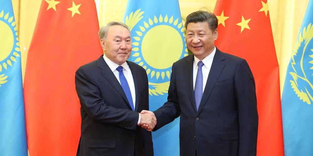 Си Цзиньпин встретился с президентом Республики Казахстан Нурсултаном Назарбаевым