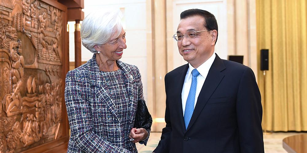 Ли Кэцян встретился с директором-распорядителем МВФ К.Лагард