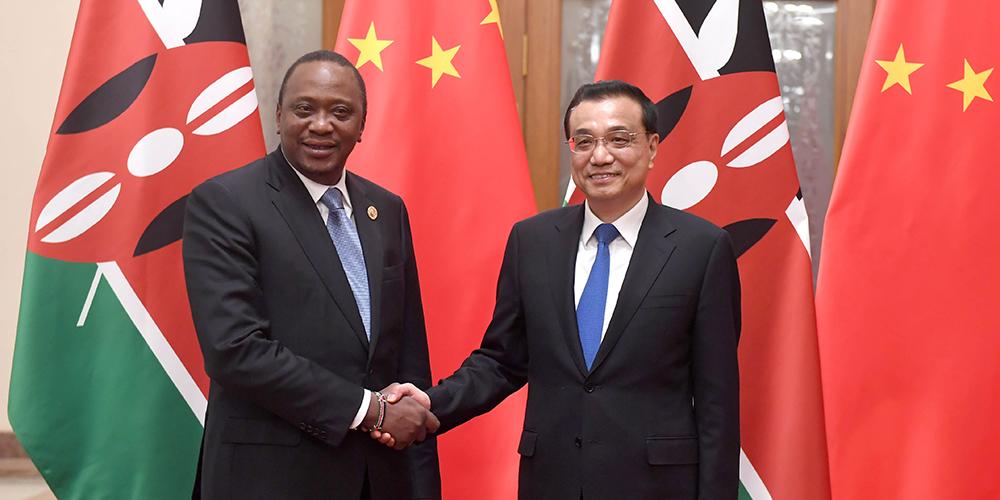 /Пояс и путь/ Ли Кэцян встретился с президентом Кении У. Кениятой