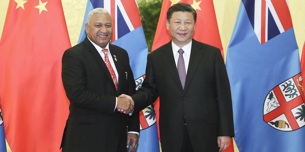 Си Цзиньпин встретился с премьер-министром Фиджи Ф.Мбаинимарамой